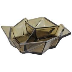 Ruba Rombic Art Deco Era Glass Bon Bon Dish by Reuben Haley