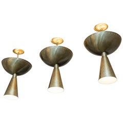Set of Ceiling Lamps, Italy, circa 1960