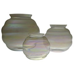 Set of Art Deco Iridescent Vases