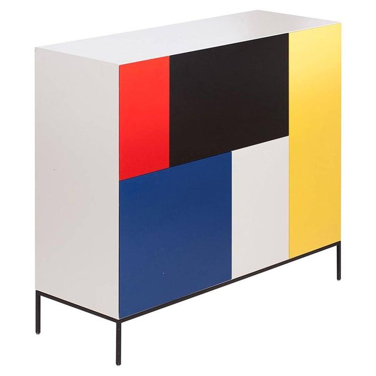 Mondriaan De Stijl Cabinet for Pastoe For Sale