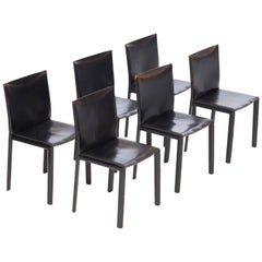 Pellizoni Black Leather Pasqualina Chairs