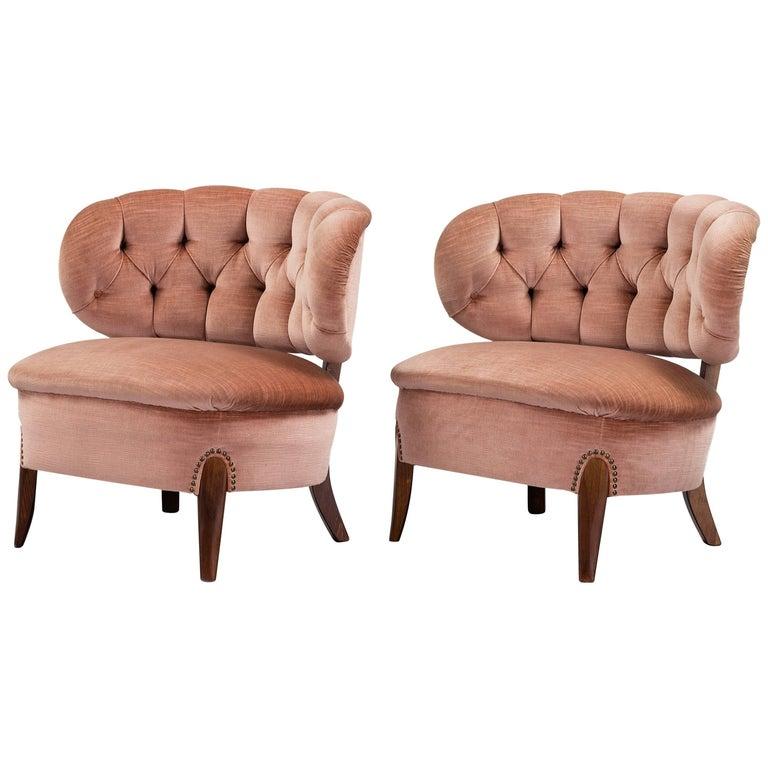 Otto Schulz, Pair of 'Schulz' Easy Chairs for Jio Möbler, Jönköping, Sweden