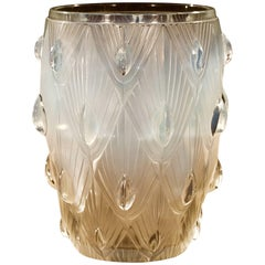 Opalescent Moulded Glass Vase by Sabino
