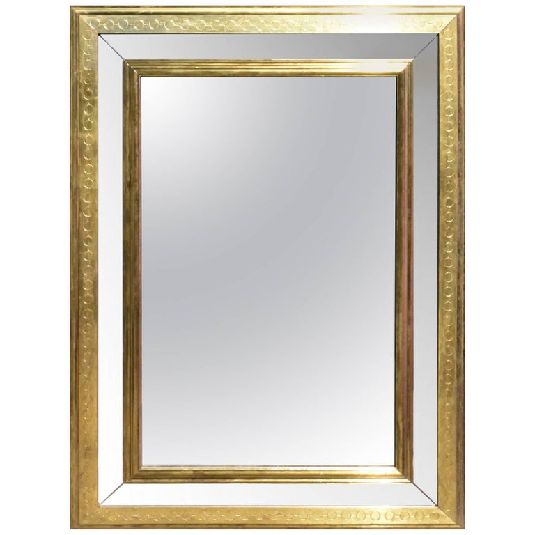 1980s Mirror with Guilded Frame