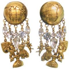 Askew London Statement Chandelier Crystal Clip-On Earrings