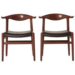 Hans Wegner Cow Horn Chairs, model JH 5050, Johannes Hansen, Denmark, 1950s/60s
