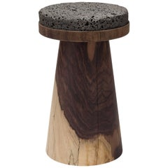 Material Container Basalt on Rosewood by Jeonghwa Seo
