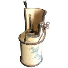 Japanese Unusual Antique Ceramic Lantern or Oil Lamp Hard to Find Signed, Meiji