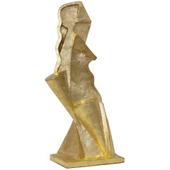 Bebiano Davíd Limited Edition Bronze Sculpture with Gold Leaf, 2017
