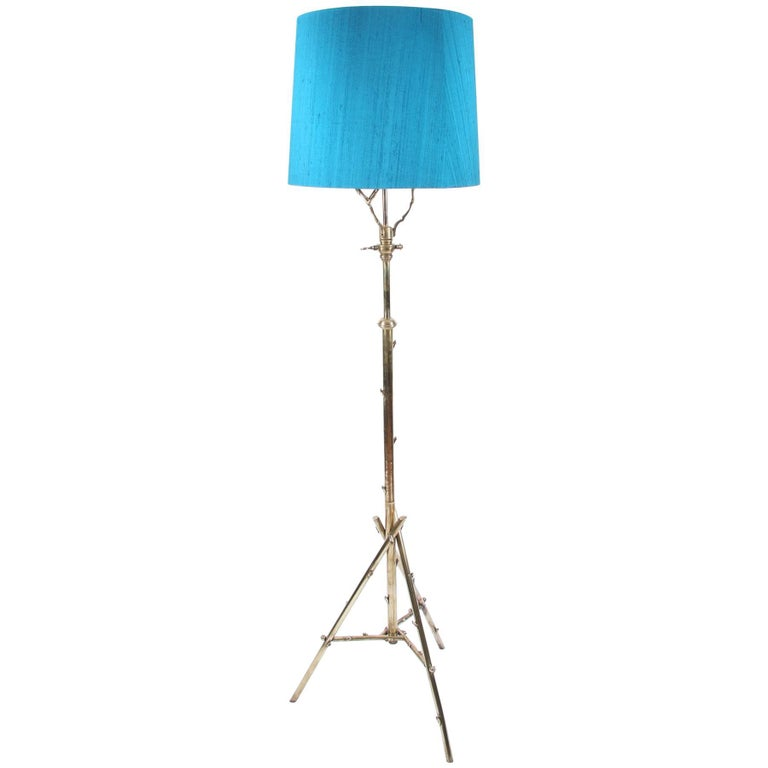 Metal Twig Floor Lamps : English brass twig floor lamp at stdibs