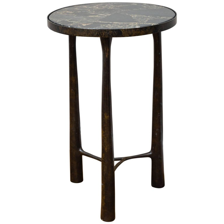 Side Table Bronze and Marble