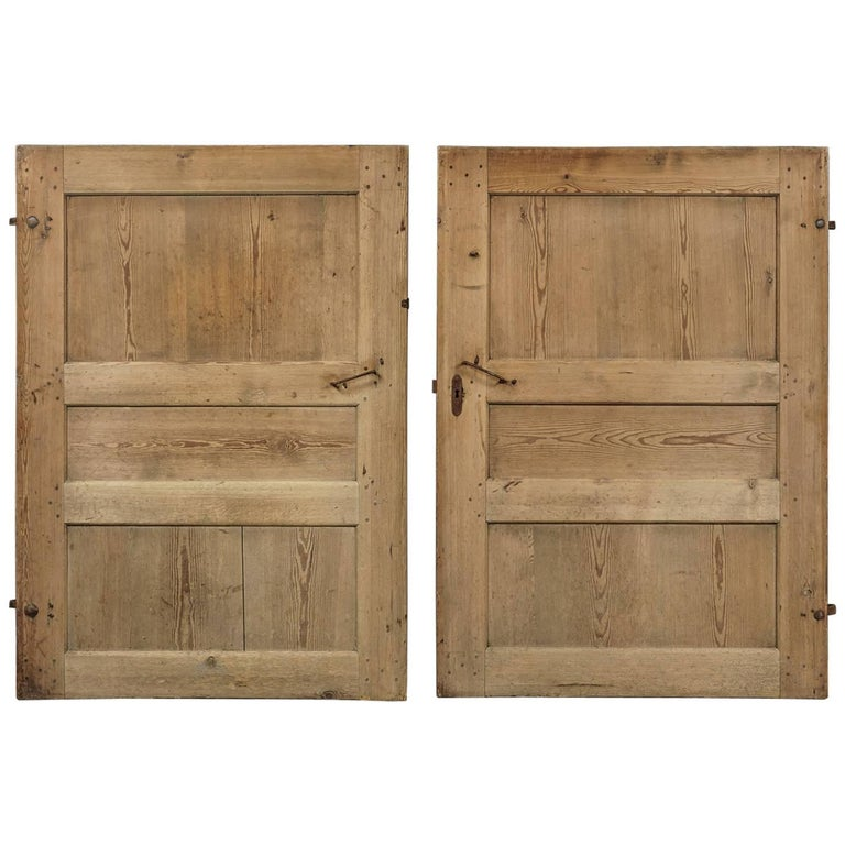 Pair of Primitive Doors from Sweden, circa 1820 For Sale