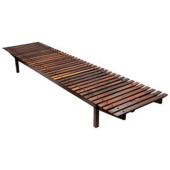 """Mucki"" Rosewood Bench by Sergio Rodrigues"