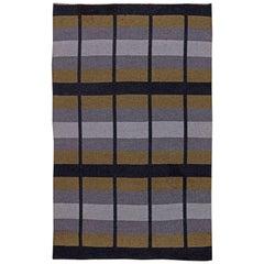 Vintage Swedish Flat-Weave Reversible Rug