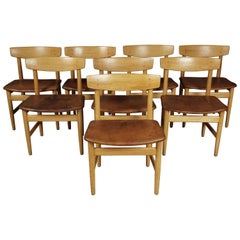 "Set of Eight Dining Chairs Designed by Børge Mogensen, Model ""Oresund"""