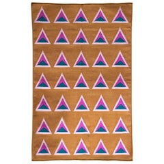 Geometric Maya Ice Cream Hand Woven Modern Cotton Rug, Carpet and Durrie