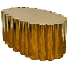 "Brass Coffee Table ""Cloud"""