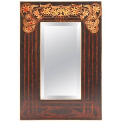 Small Art Nourveau Rectangular Mirror in the Manner of Shapland & Petter