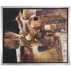 1970s Modern Abstract Artwork by Jonas Gerard