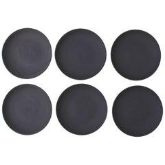 Set of Six Basalt Wedgwood Plates
