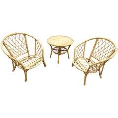 Lounge Set in Wicker