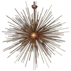 Monumental Brass Sputnik or Urchin Chandelier