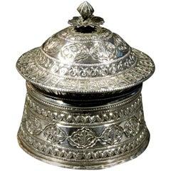 19th Century Mughal Silver Pandan / Betel Box, Northern India