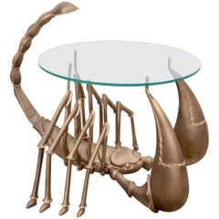 Rare Brass Scorpion Coffee Table Attributed to Jacques Duval-Brasseur