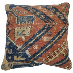 Antique Persian Flat-Weave Rug Pillow