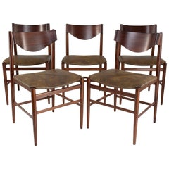 Italian Curved Dining Chairs, Set of 5, 1950s