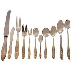 Wedgwood by Int Sterling Silver Flatware Set 12 Dinner and Hollowware Collection