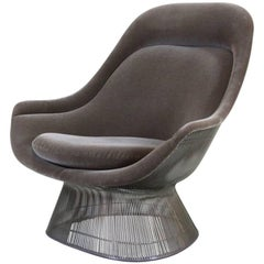 Warren Platter Lounge Chair Velvet, Knoll International