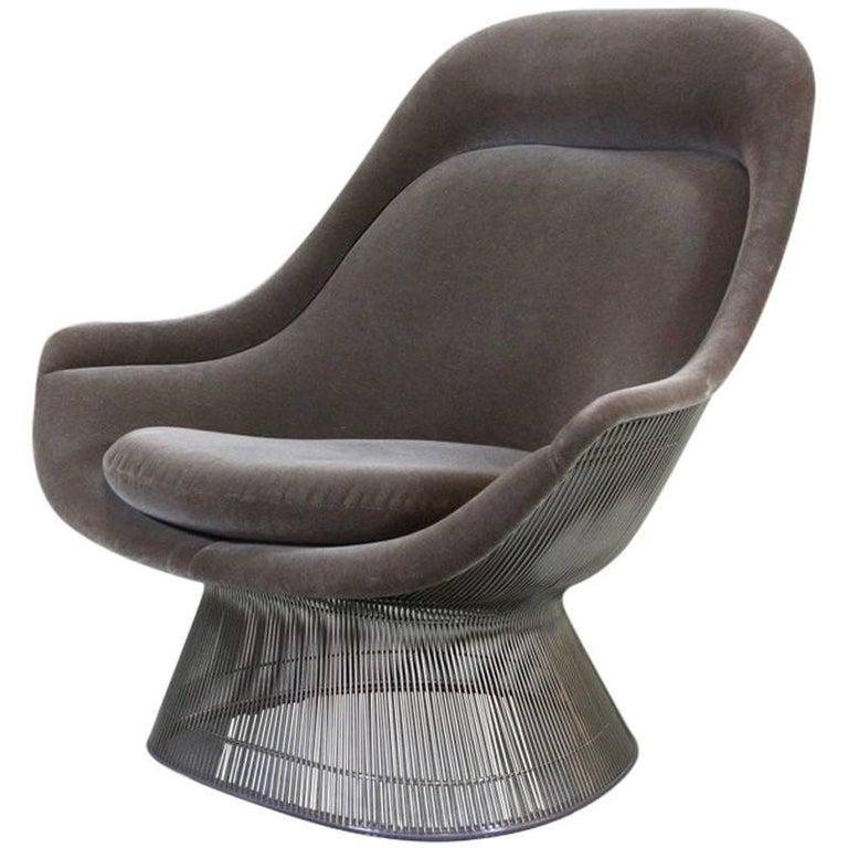 Warren Platter Lounge Chair Velvet, Knoll International