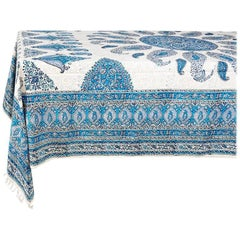 One of a Kind Persian Ghalamkar Rectangular Tablecloth