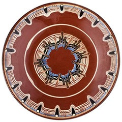 Vintage Ceramic Bulgarian Plate from 1960s