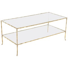 1950s, French Bronze Coffee Table by Baguès