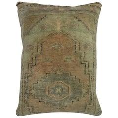 Vintage Turkish Oushak Rug Pillow