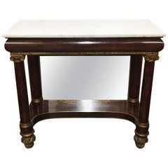 New York Classical Pier Table with Marble Top