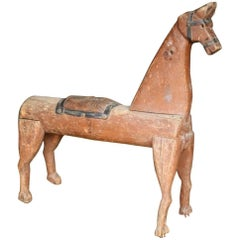 19th Century Folk Art Model of a Rocking Horse