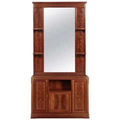 "Louis Majorelle ""Pirouette"" Figured Mahogany Dresser and Mirror, circa 1910"