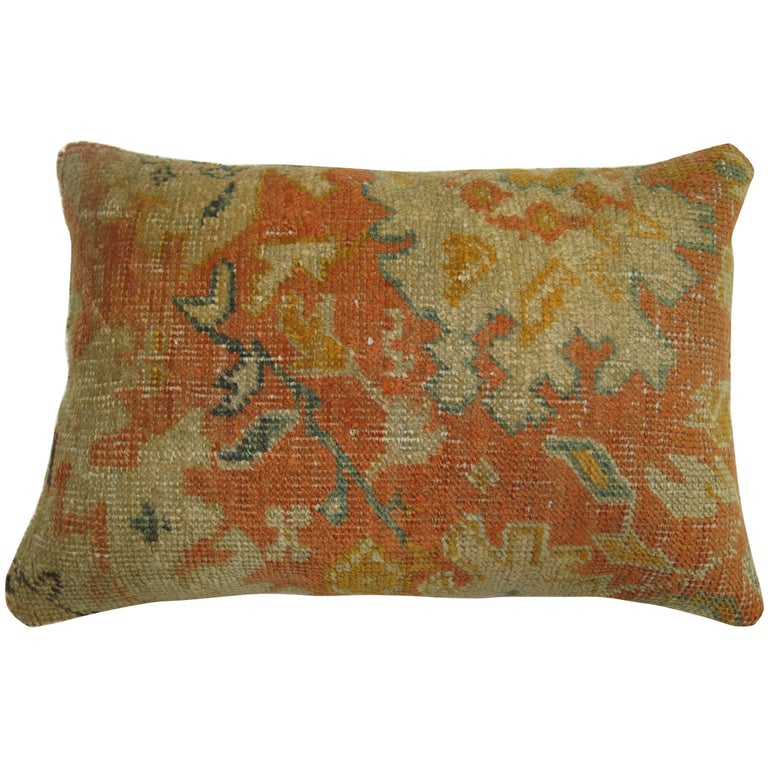 Antique Oushak Rug Pillow For Sale At 1stdibs