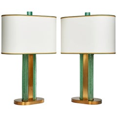 Magnificent Limited Edition Venini Glass Lamps by Roberto Rida