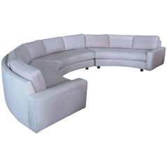 Milo Baughman Semi-Circular Curved Sectional Sofa
