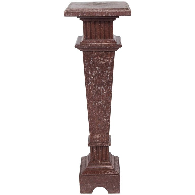 Neoclassical Style Marble Pedestal