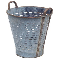 Early 20th Century Metal Basket Bin