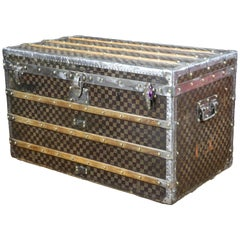 1900s Louis Vuitton Damier Steamer Trunk