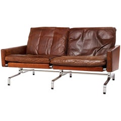 Poul Kjaerholm First Series PK31/2 Sofa for Kold Christensen in Brown Leather