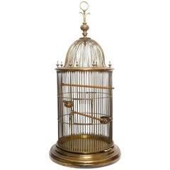 Large Bronze Bird Cage, Late 19th Century