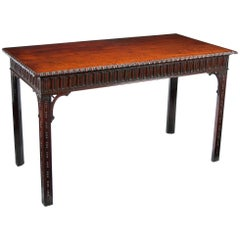 Early 19th Century Georgian Mahogany Console, Serving Table, W.Williamson & Son