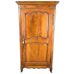 French Provincial Louis XV Fruitwood Bonnetiere, 18th Century